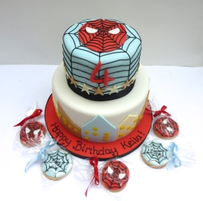 Spiderman Cake and Cookies
